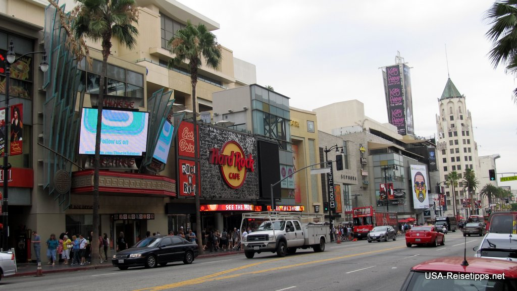 Los Angeles Direkt am Hollywood Blvd ist auch das Hard Rock Cafe.