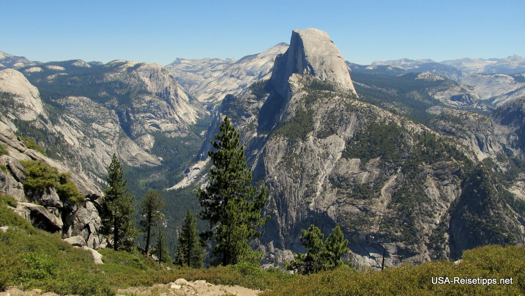 vom Yosemite nach San Francisco Ausblick vom Glacier Point.