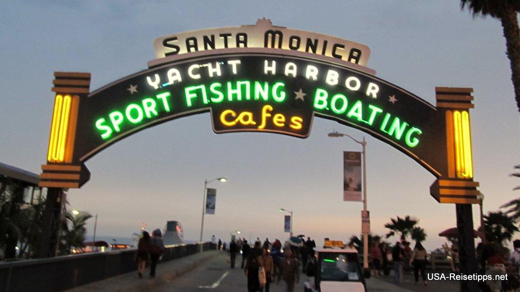 Santa Monica Die Pier Abends