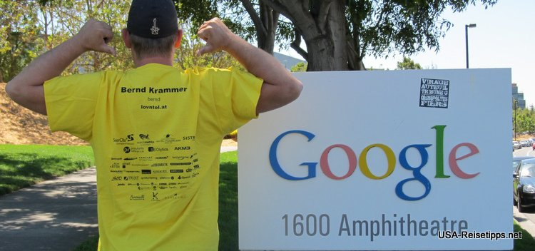 Pflichttermin. Google in Mountain View