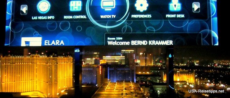 Das Planet Hollywood in Las Vegas. Da weiß man nicht was man zuerst sehen will.